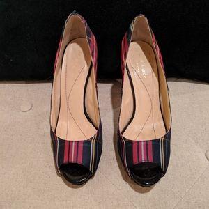 Kate Spade Tartan Silk Heels